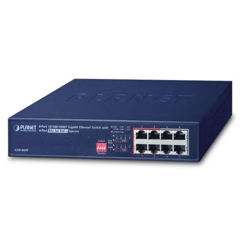 switch 4 puertos POE+