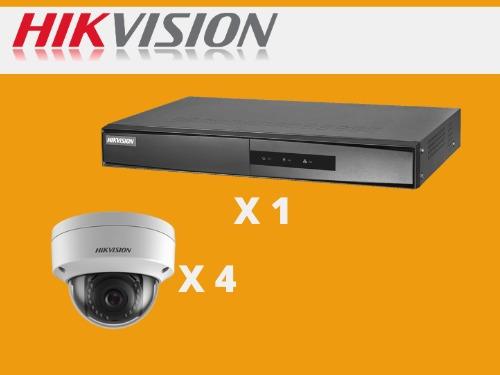 kit hikvision 4 camaras