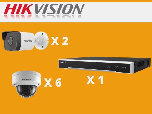 kit hikvision 8 camaras