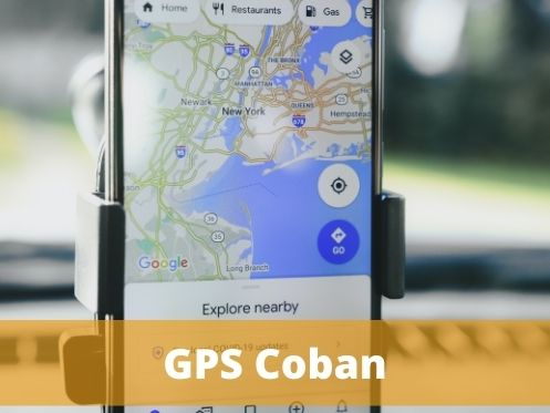 gps coban, el fondo de la imagen tiene un mapa digital
