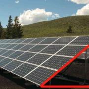 Imagen que muestra la inclinación como deben ser instalados los panales solares