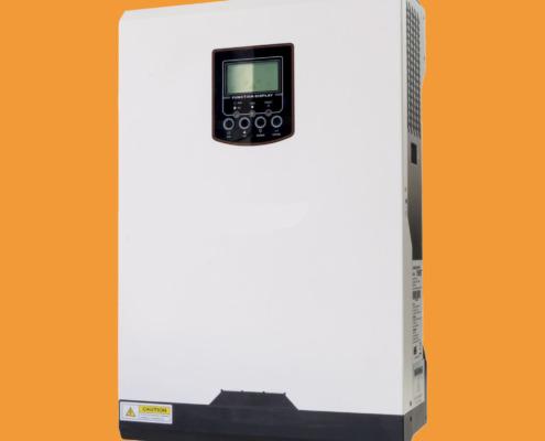 la imagen muestra un inversor solar